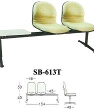 Kursi tunggu kantor Subaru SB 612 T Keunggulan: 1. Menggunakan bahan oscar/fabric yang berkualitas. 2. Dilengkapi meja yang dilapisi melamine. 3. Model desain yang elegan. Bahan: Oscar/Fabric dan Melamine Seri: Utility