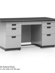 Meja Kantor Alba DP 402 (Double Pendestal Desk)
