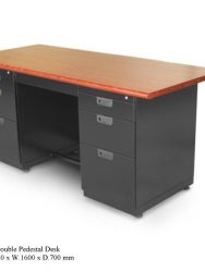 Meja Kantor Alba DP-402TW-(Double Pendestal Desk)
