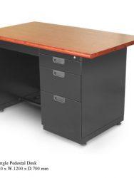 Meja Kantor Alba SP-401TW ( SINGLE PENDESTAL DESK)